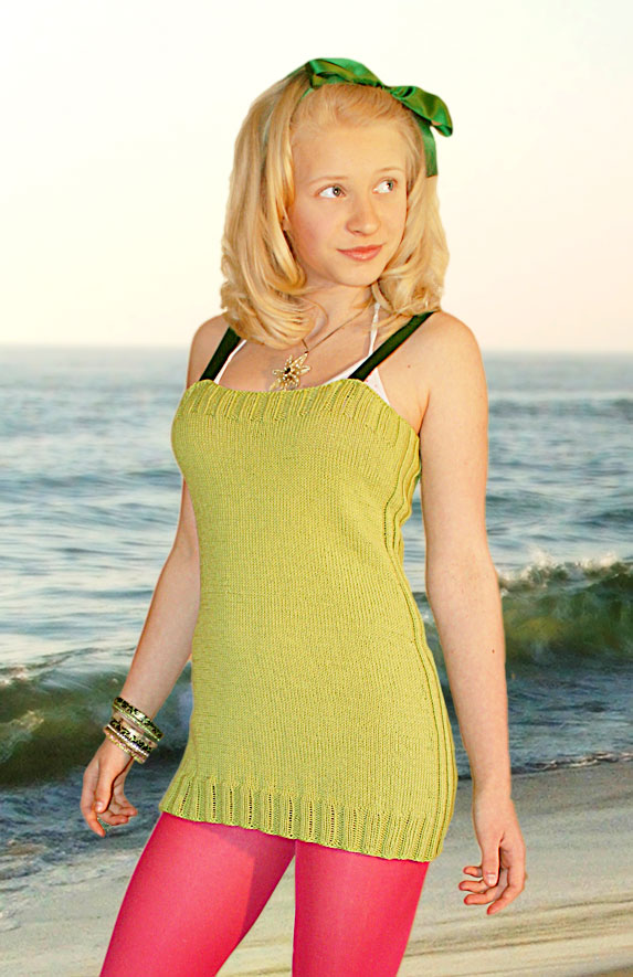 Grønn sommertopp