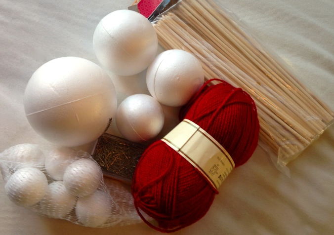 Materialer til julekuler