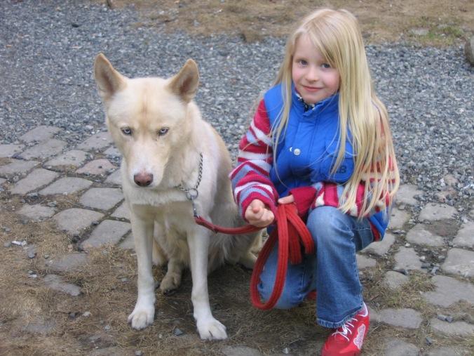 Kahn og datteren min i 2006. / Kahn and my daughter in 2006.