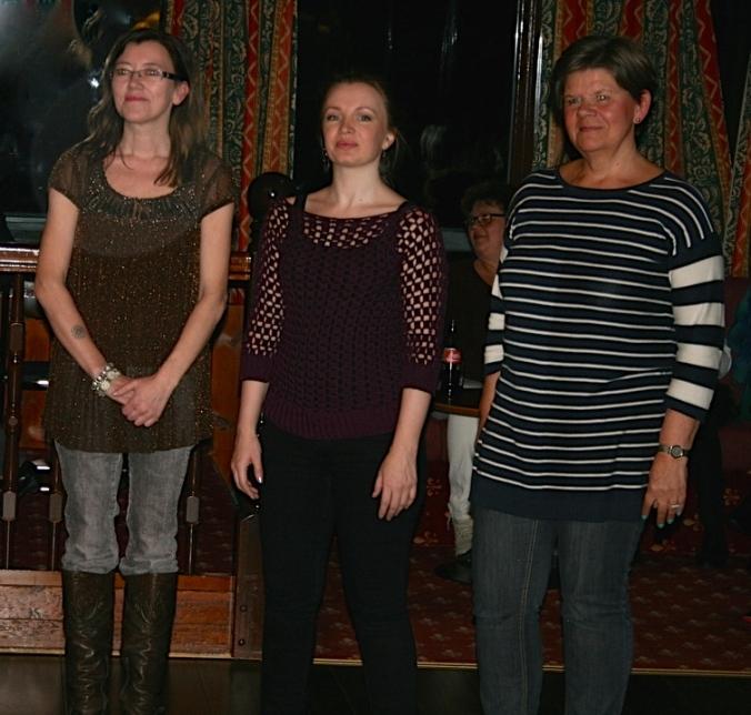 Fra venstre: Chatrine Halvosen, Stella Charming og Denise Samson.