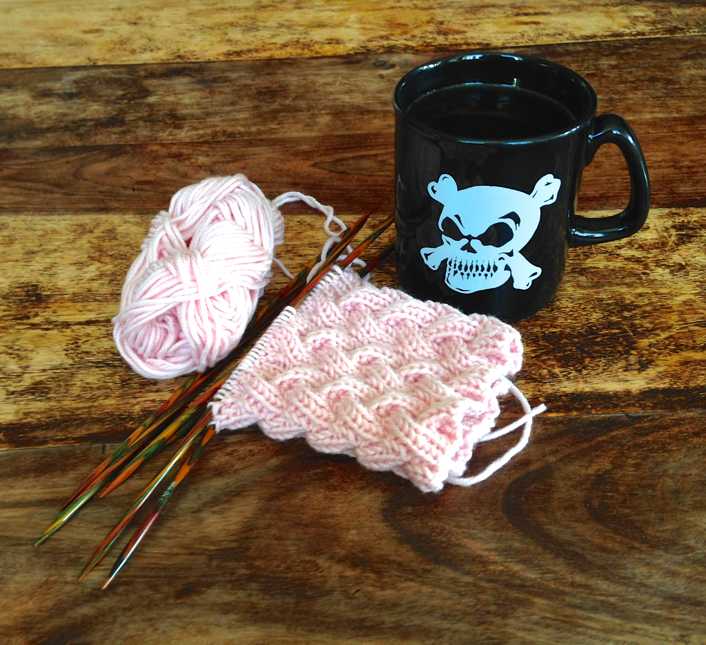 coffee and knitting