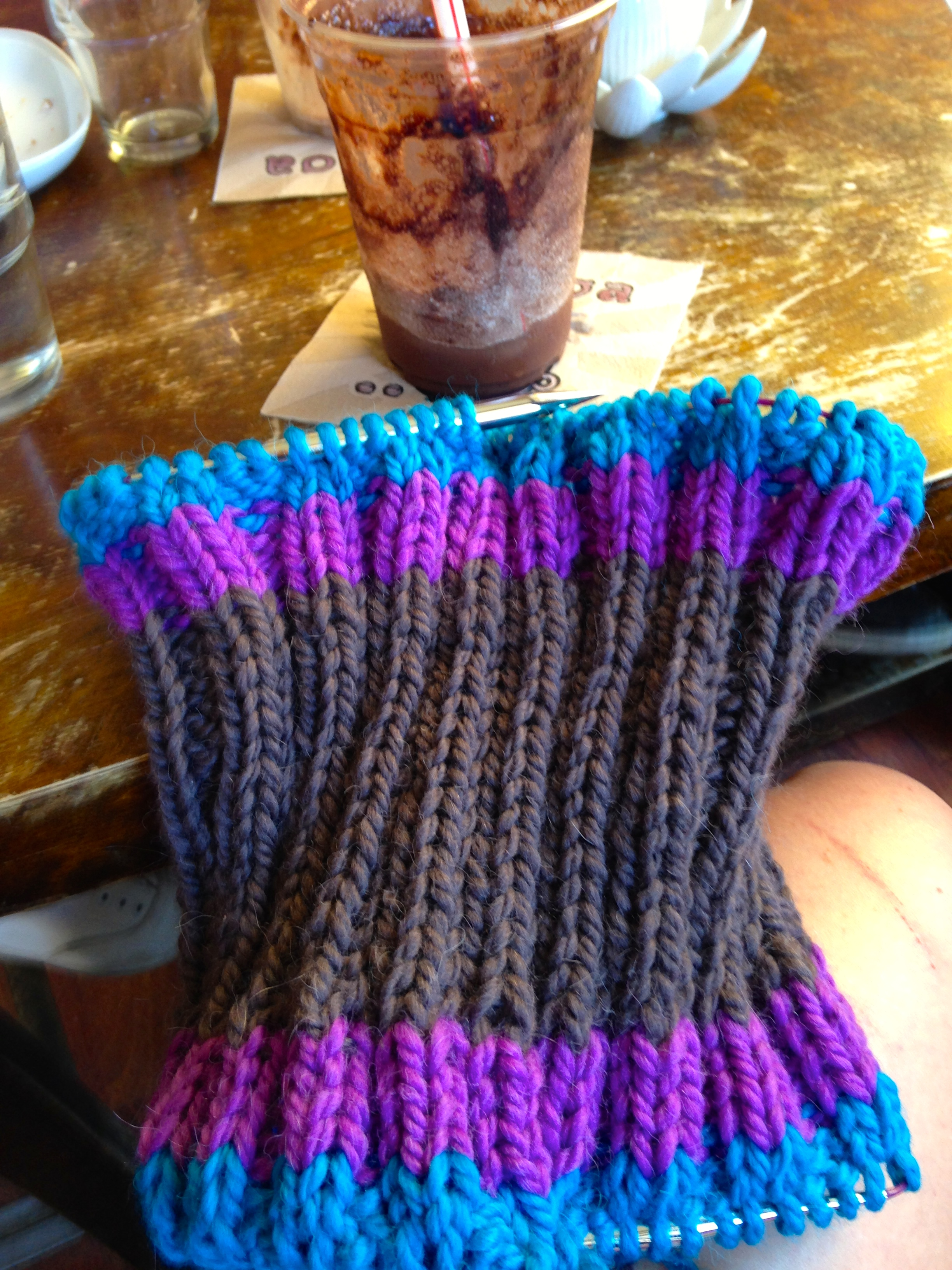 A cowl in the making