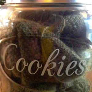A jar full of Tunisian crochet.
