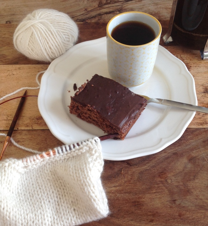coffee, cake and knitting