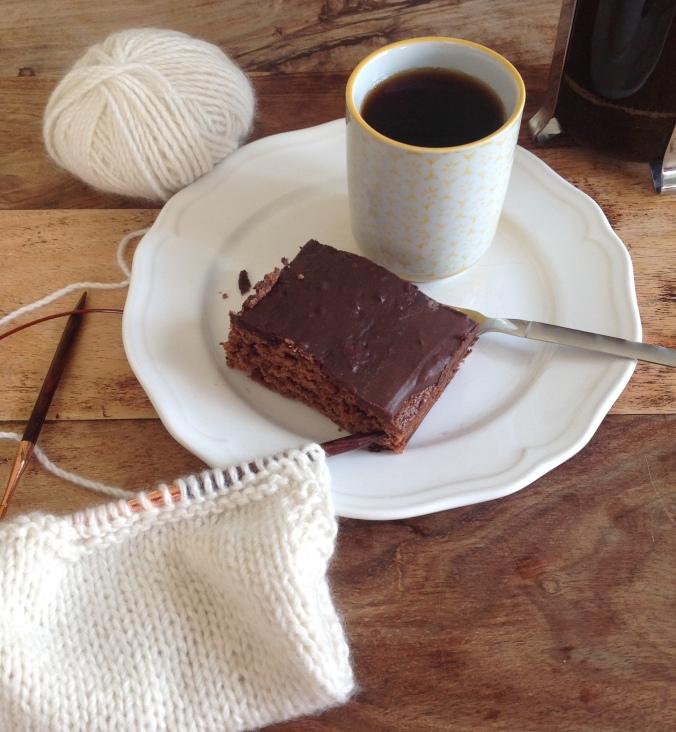 coffee, cake and knitting